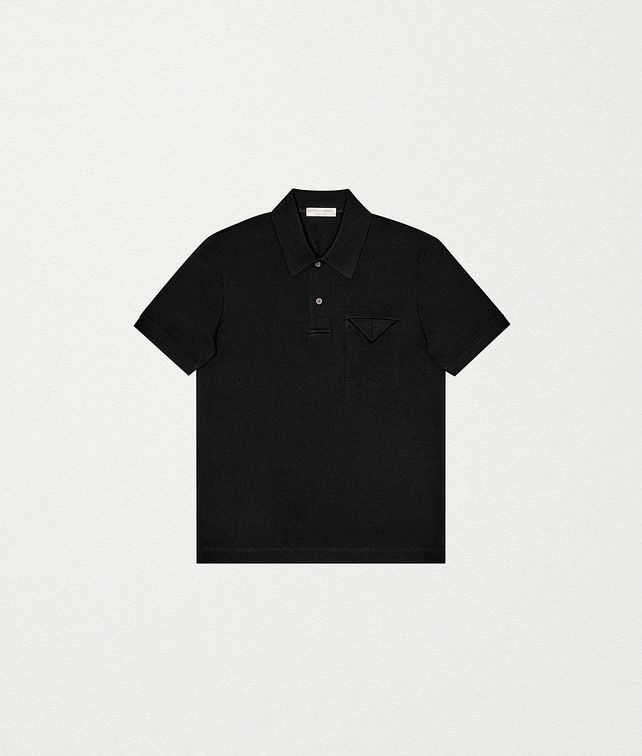 BOTTEGA VENETA POLO IN COTTON PIQUET T-Shirts and Polos Man fp