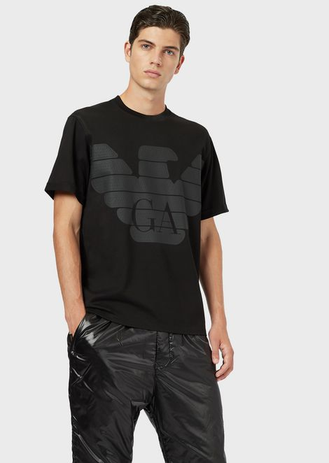 R-EA-MIX T-shirt with printed maxi logo