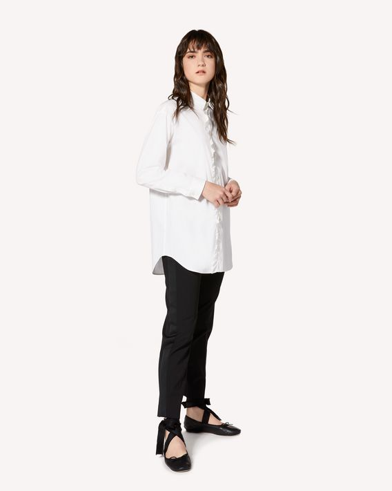 REDValentino Oversize stretch cotton poplin shirt