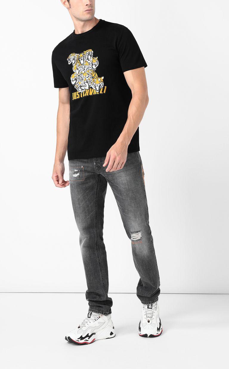 "JUST CAVALLI ""Tiger-Crowd"" print t-shirt Short sleeve t-shirt Man d"