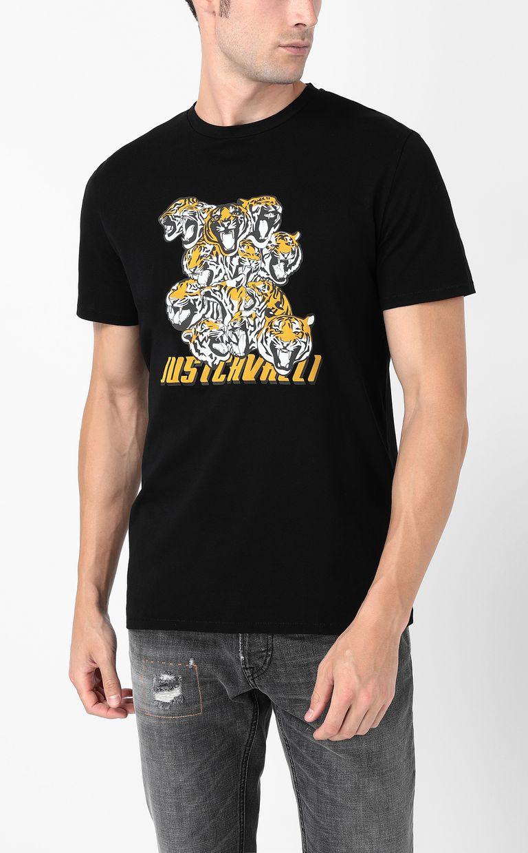 "JUST CAVALLI ""Tiger-Crowd"" print t-shirt Short sleeve t-shirt Man r"