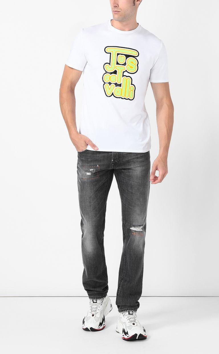 JUST CAVALLI Neon-logo t-shirt Short sleeve t-shirt Man d