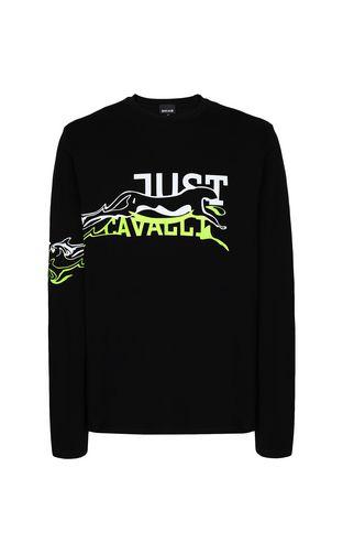 JUST CAVALLI Long sleeve t-shirt Man Cheetah t-shirt f