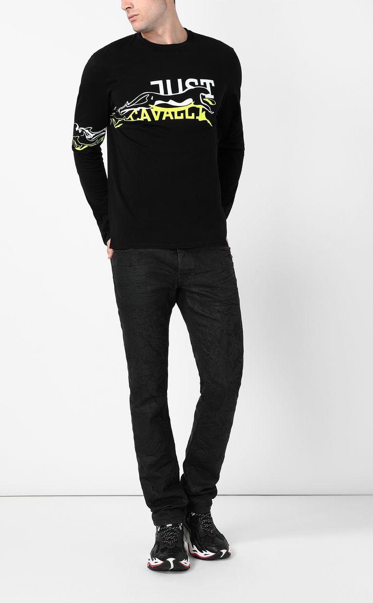 JUST CAVALLI Cheetah t-shirt Long sleeve t-shirt Man d