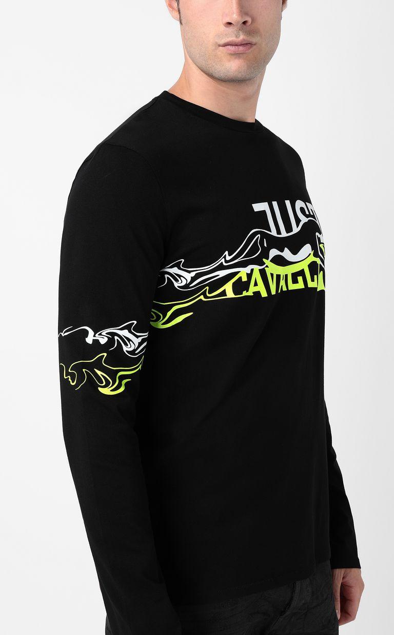 JUST CAVALLI Cheetah t-shirt Long sleeve t-shirt Man e