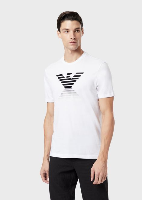 Cotton jersey T-shirt with printed logo