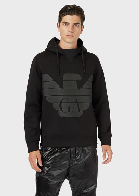 R-EA-MIX sweatshirt in scuba fabric with reflective inserts