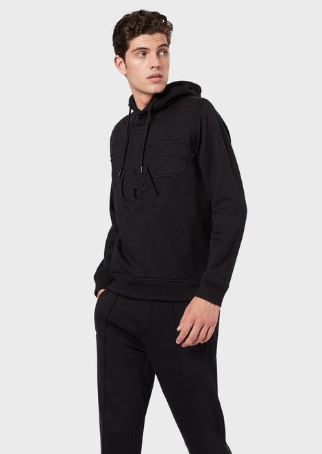 Hooded sweatshirt with embroidered logo