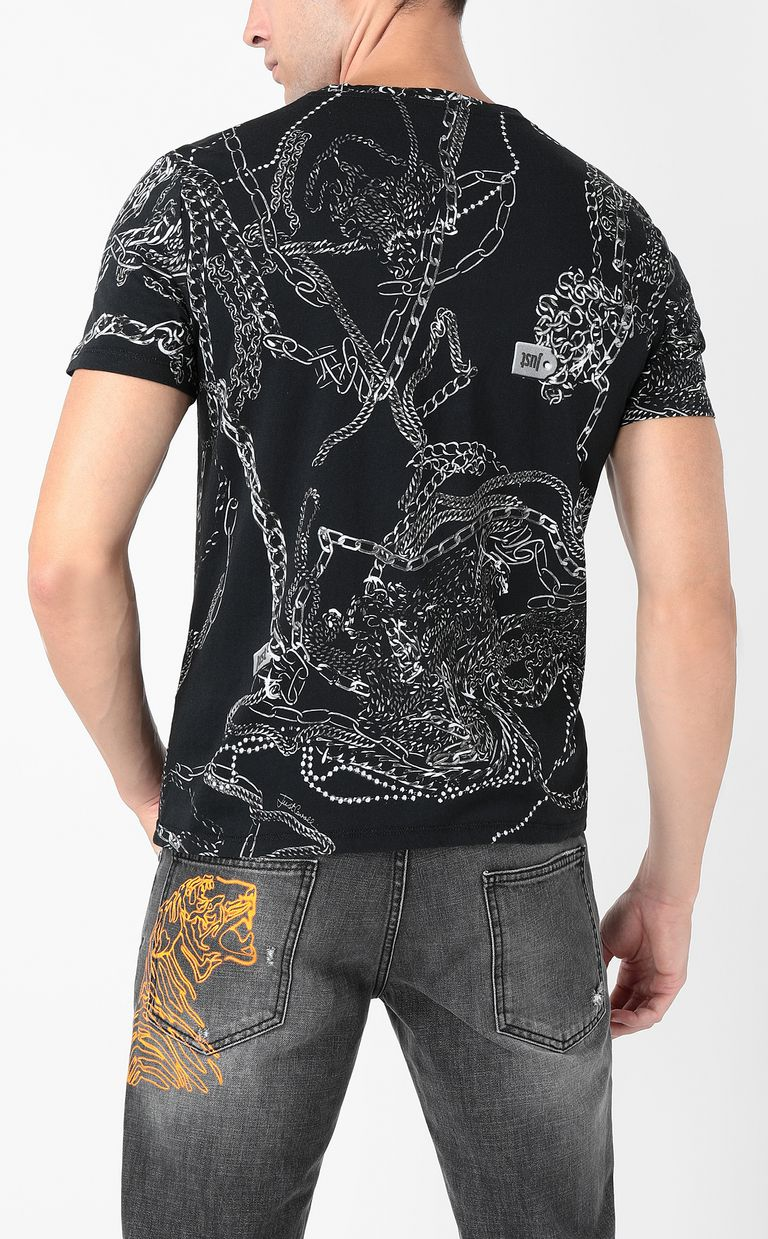 JUST CAVALLI T-shirt stampa Chains T-shirt maniche corte Uomo a