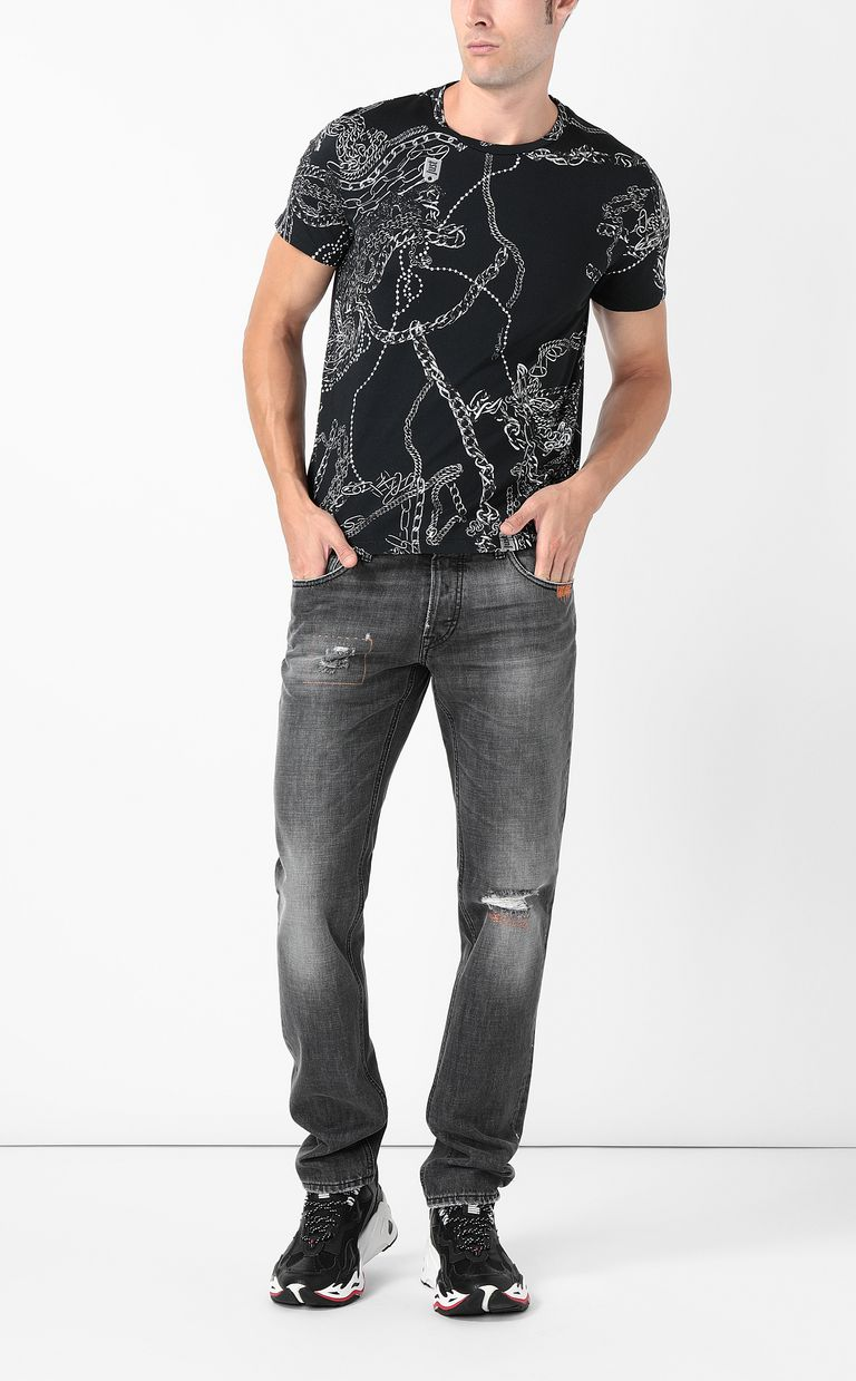 JUST CAVALLI T-shirt stampa Chains T-shirt maniche corte Uomo d