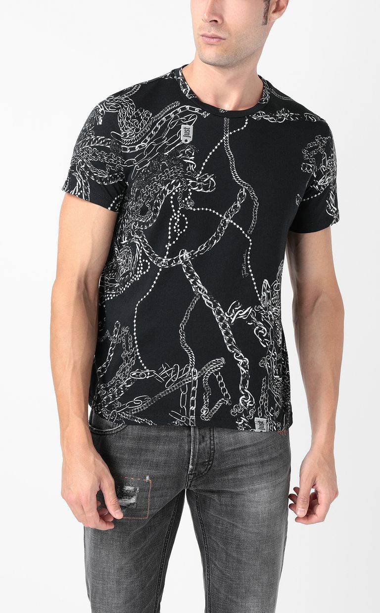 JUST CAVALLI T-shirt stampa Chains T-shirt maniche corte Uomo r
