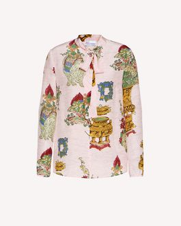 REDValentino Chinese Lacquer  printed silk top