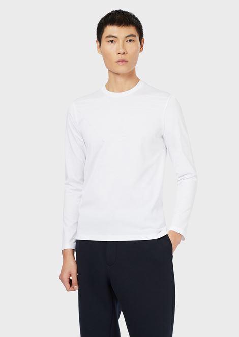 Jersey de algodón con logotipo jacquard