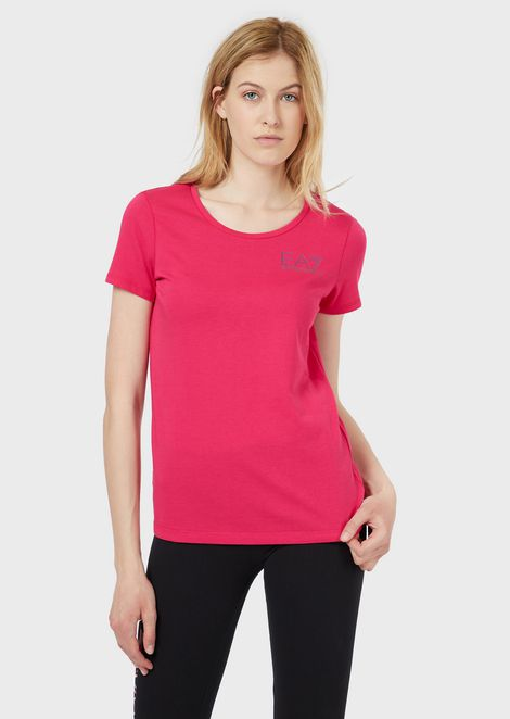 Cotton jersey T-shirt with logo