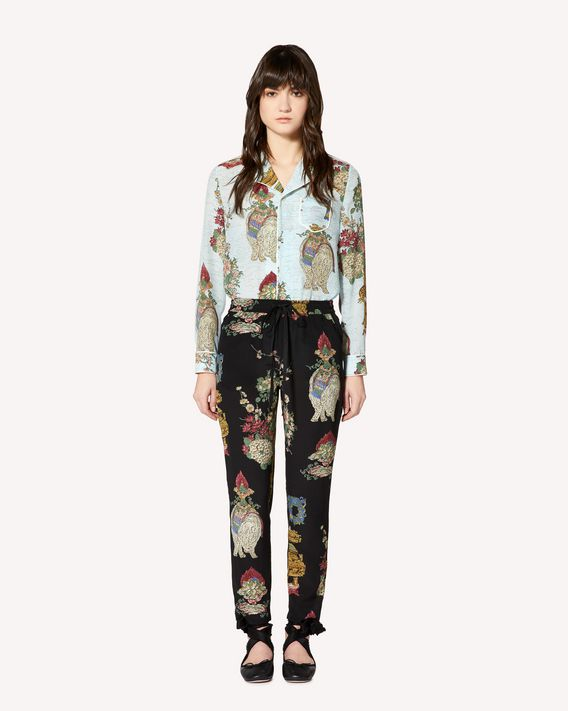 REDValentino Chinese Lacquer printed silk shirt
