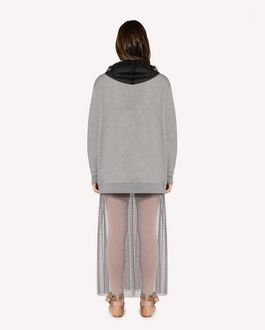 REDValentino Point d'esprit tulle detail sweatshirt