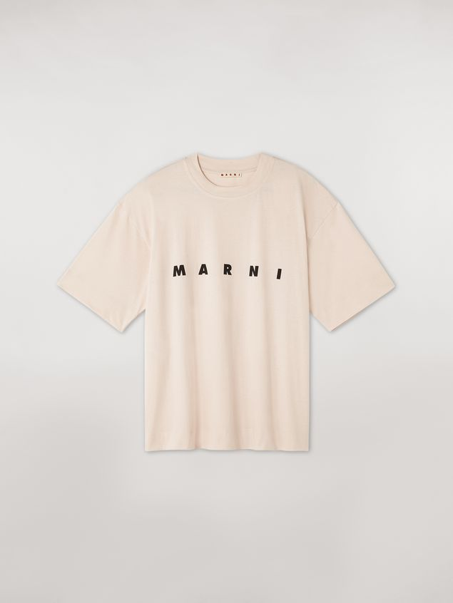 Marni Short-sleeved jersey T-shirt with frontal logo pink Woman - 2
