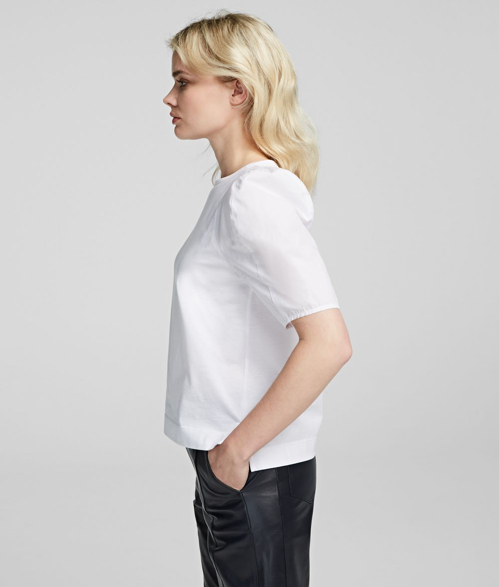 KARL LAGERFELD Volume Sleeve T-Shirt T-shirt Woman d