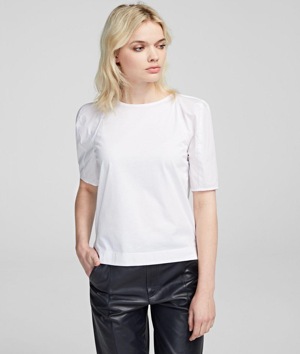 KARL LAGERFELD Volume Sleeve T-Shirt T-shirt Woman f