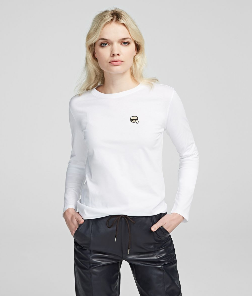 KARL LAGERFELD K/Ikonik Long Sleeve T-Shirt T-shirt Woman f