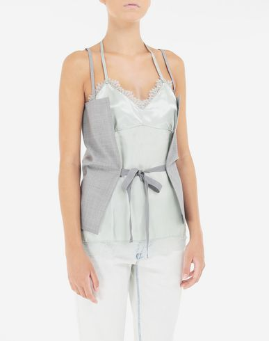 TOPS & TEES Multi-wear satin top Grey