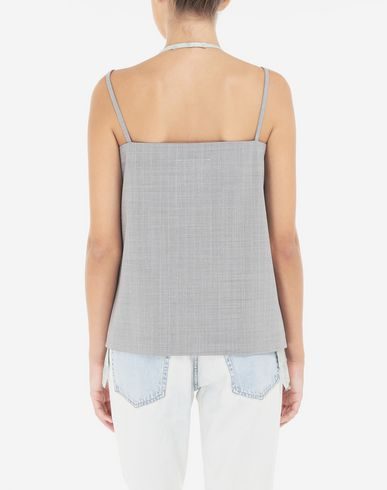 TOPS Multi-wear satin top Grey