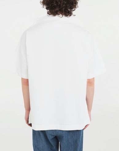TOPS & TEES Funnel neck top White