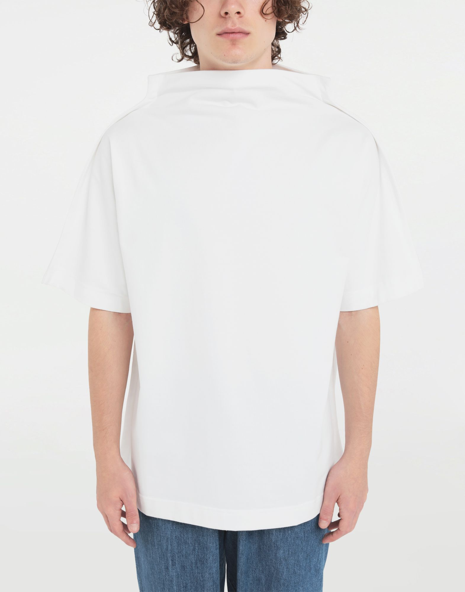 MAISON MARGIELA Funnel neck top Short sleeve t-shirt Man r