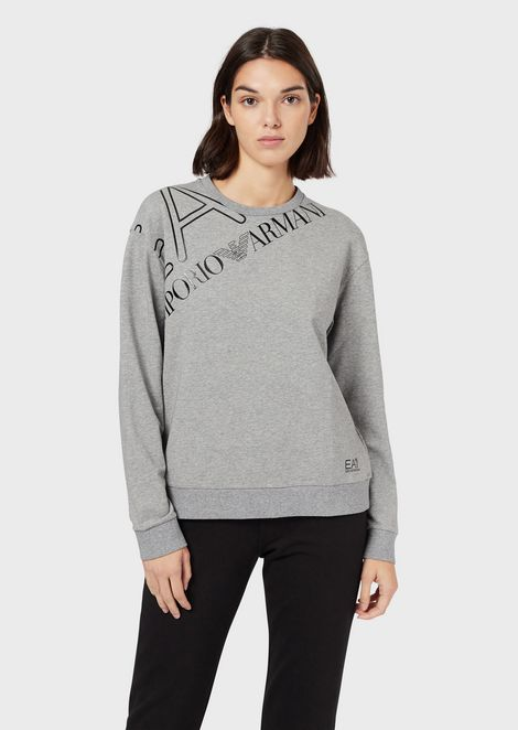 Crew-neck sweatshirt with logo print