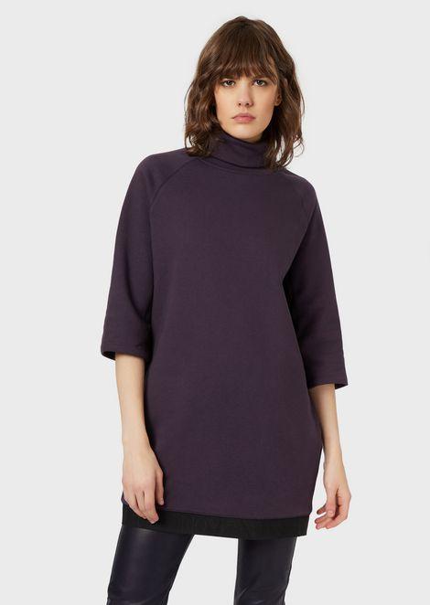 Oversized sweatshirt with elasticated logo trim