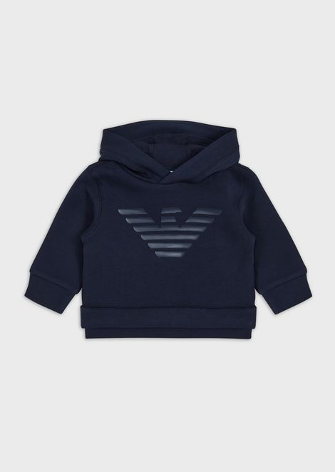 Hooded sweatshirt with eagle print