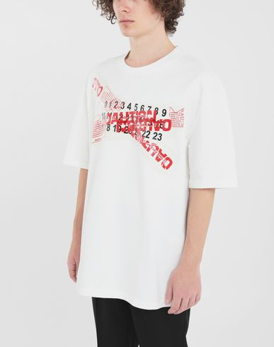 TOPS 'Caution' T-shirt  White