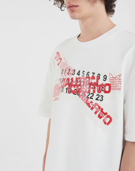 MAISON MARGIELA 'Caution' T-shirt Short sleeve t-shirt Man a