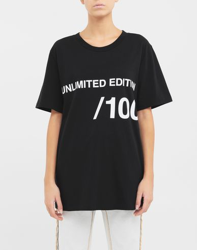 TOPS & TEES Unlimited Edition T-shirt Black