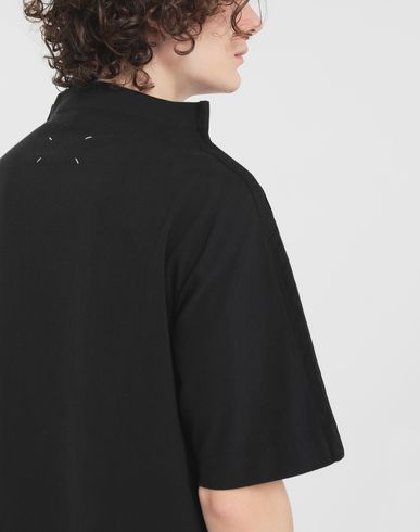 TOPS Funnel neck top Black