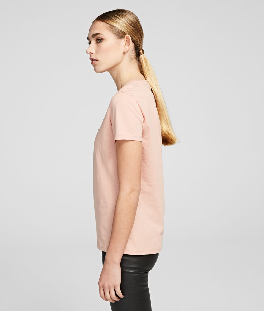 KARL LAGERFELD Double Logo T-shirt T-shirt Woman d
