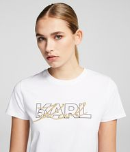KARL LAGERFELD Double Logo T-shirt 9_f