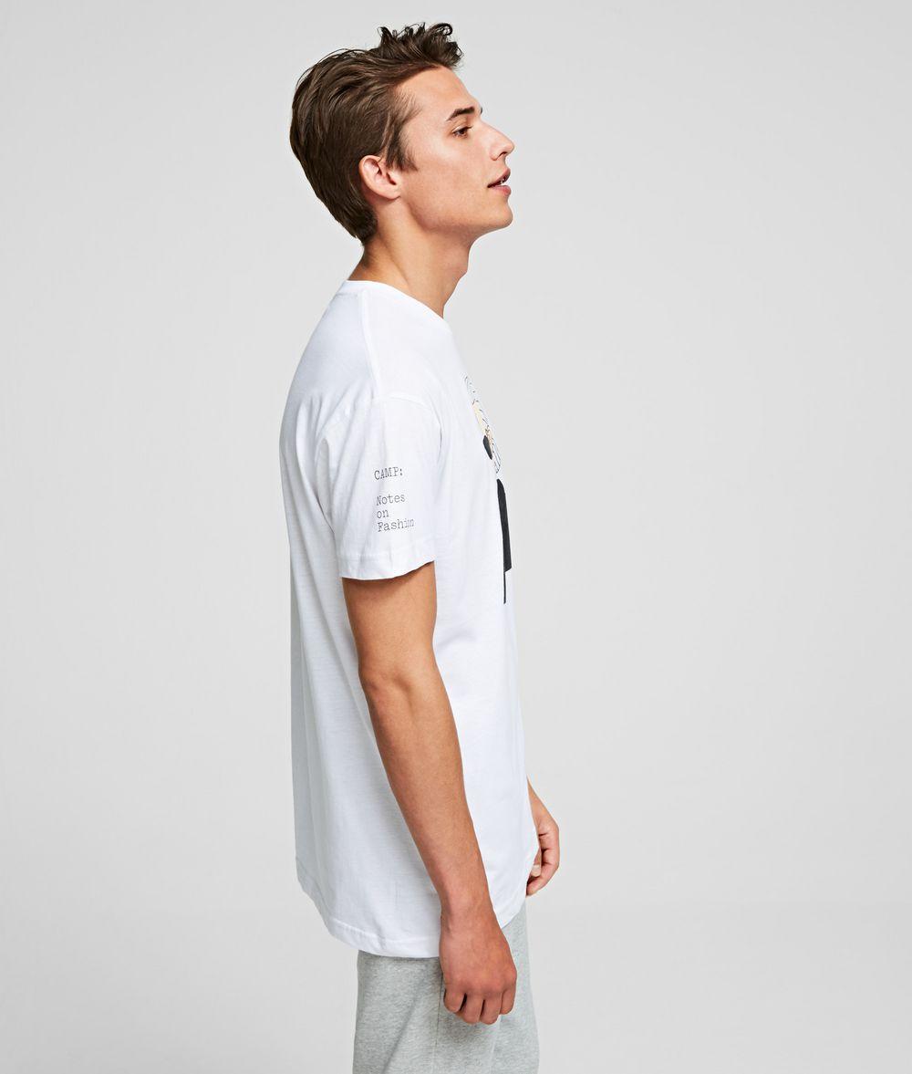 KARL LAGERFELD K/MET Portrait Tee T-shirt Woman d