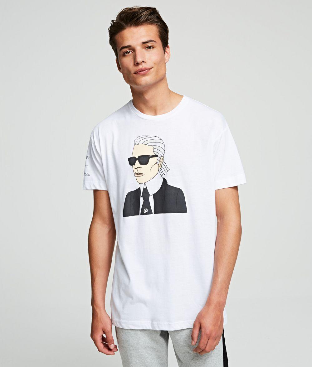 KARL LAGERFELD K/MET Portrait Tee T-shirt Woman f