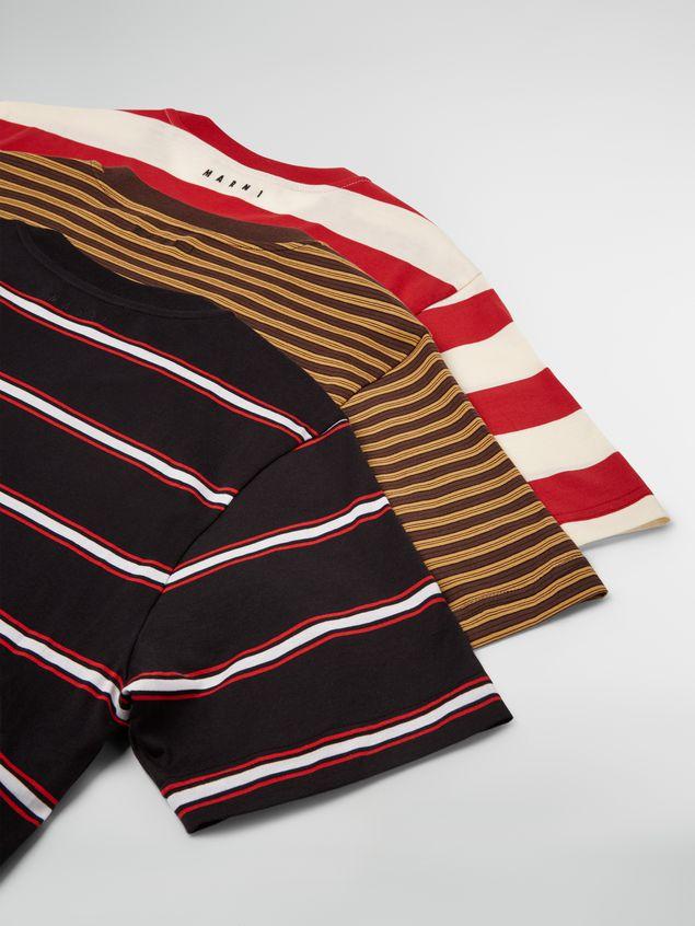 Marni T-shirt girocollo in jersey di cotone rigato Uomo - 5
