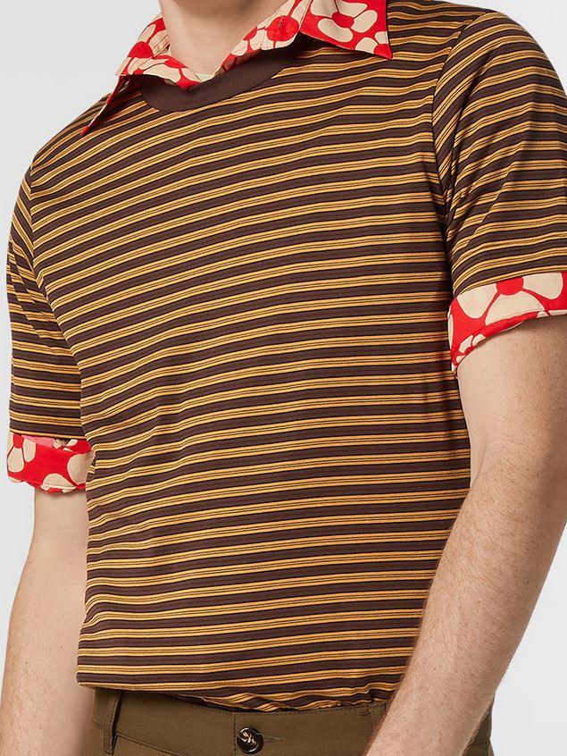 Marni T-shirt girocollo in jersey di cotone rigato Uomo - 4