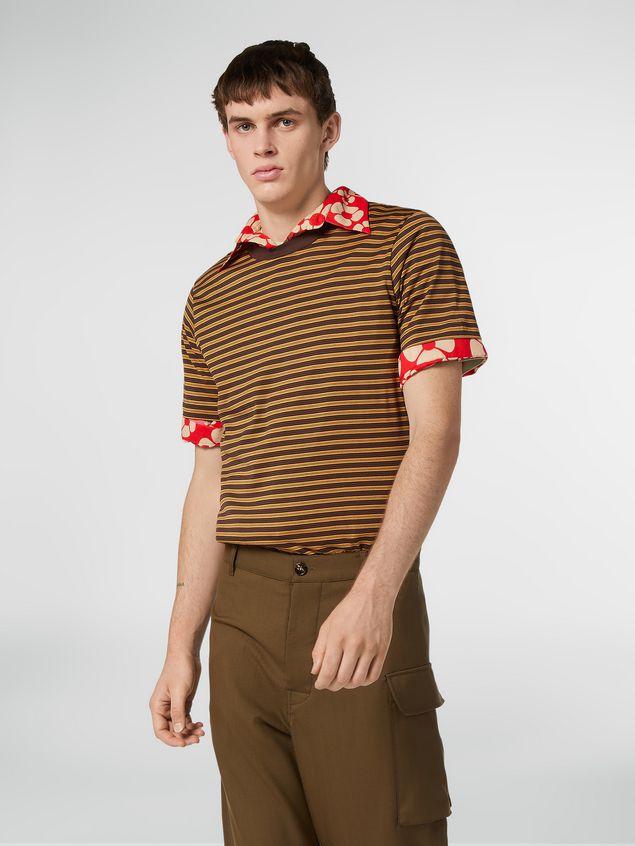 Marni T-shirt girocollo in jersey di cotone rigato Uomo - 1