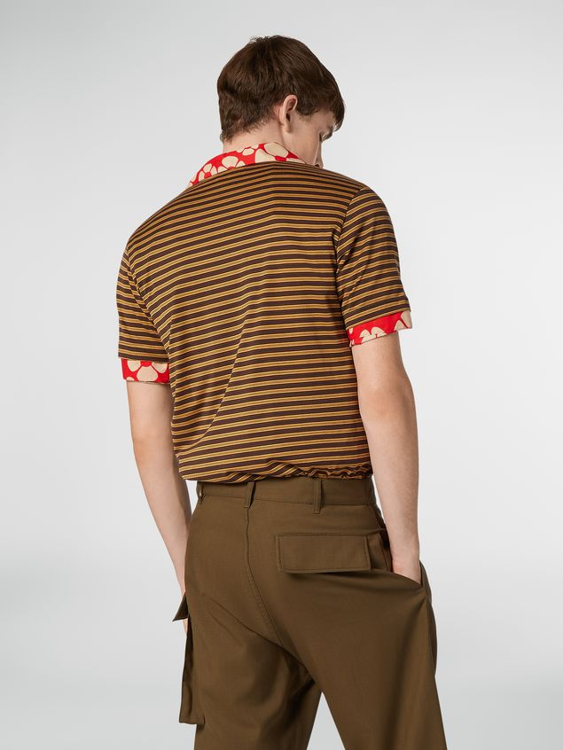 Marni T-shirt girocollo in jersey di cotone rigato Uomo - 3