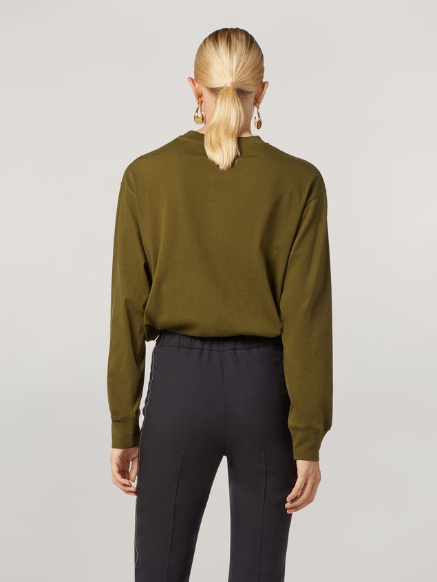 Marni Camiseta de manga larga de jersey de algodón con estampado Marni Mujer