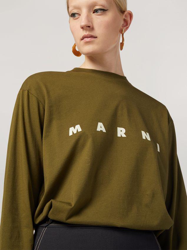 Marni Camiseta de manga larga de jersey de algodón con estampado Marni Mujer - 4