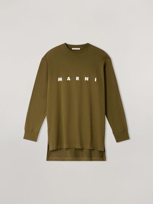 Marni Camiseta de manga larga de jersey de algodón con estampado Marni Mujer - 2