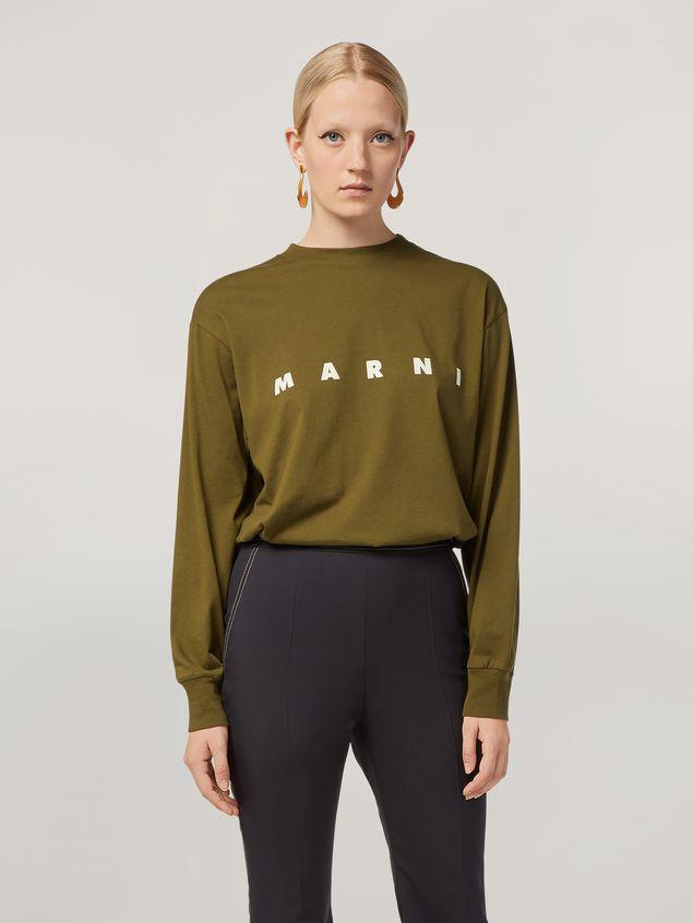 Marni Camiseta de manga larga de jersey de algodón con estampado Marni Mujer - 1