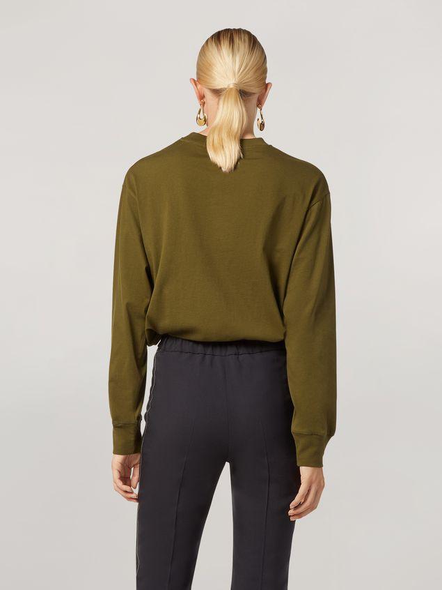 Marni Camiseta de manga larga de jersey de algodón con estampado Marni Mujer - 3