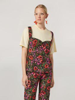 Marni T-shirt in jersey con applicazione top in faille stampa Amarcord  Donna