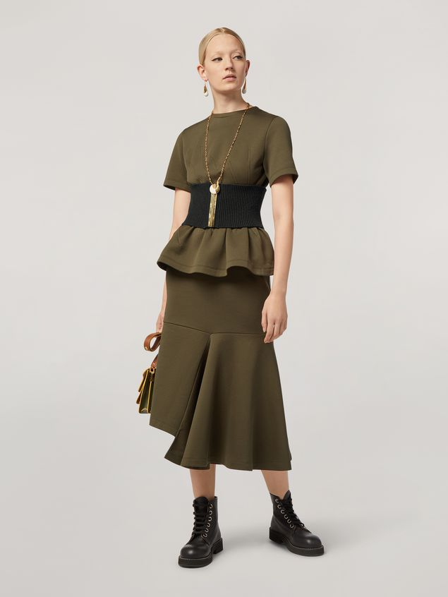 Marni T-shirt in double face jersey with wavy seamwork Woman - 5